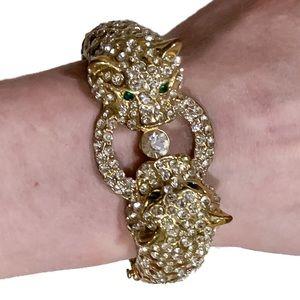 Kenneth Jay Lane Gold Leopard Bracelet
